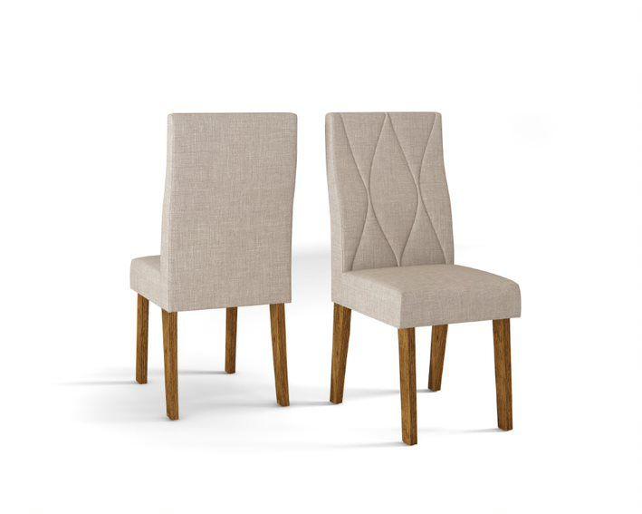 Cadeira De Jantar MANUELA TRONCO RIPADO LINHO URBANO- CONJUNTO COM 2 CADEIRAS