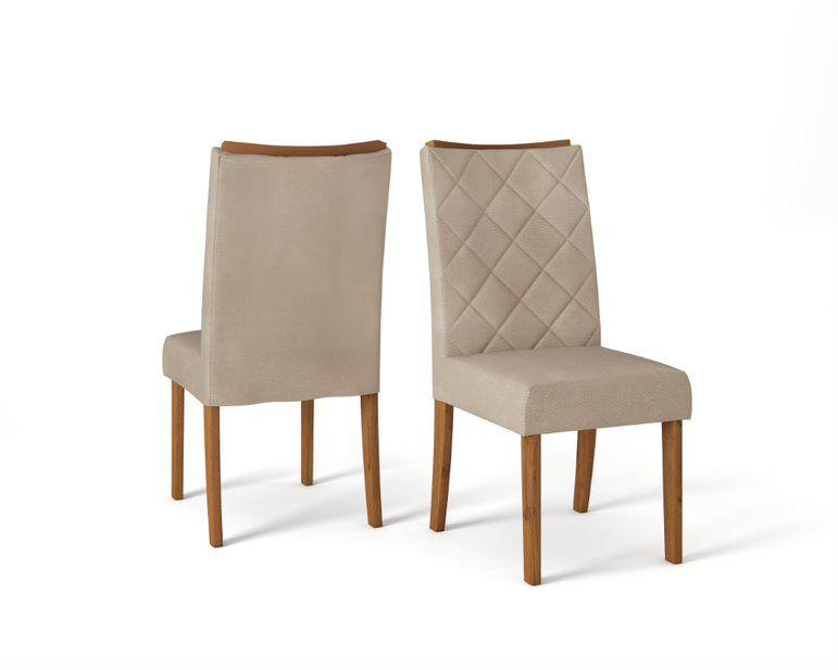 Cadeira de Jantar SARA TELHA LINHO ÁRIDO - CONJUNTO COM 2 CADEIRAS