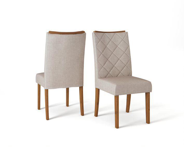 Cadeira De Jantar SARA TELHA LINHO URBANO- CONJUNTO COM 2 CADEIRAS