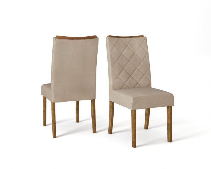 Cadeira De Jantar SARA TRONCO RIPADO LINHO ÁRIDO- CONJUNTO COM 2 CADEIRAS