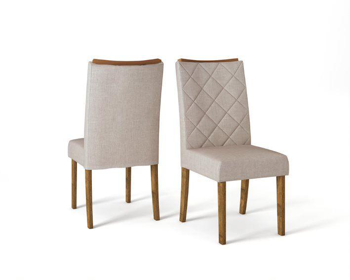Cadeira De Jantar SARA TRONCO RIPADO LINHO URBANO- CONJUNTO COM 2 CADEIRAS