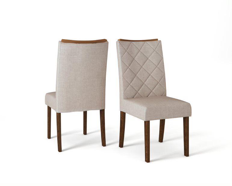 Cadeira De Jantar SARA TRUFA LINHO URBANO- CONJUNTO COM 2 CADEIRAS