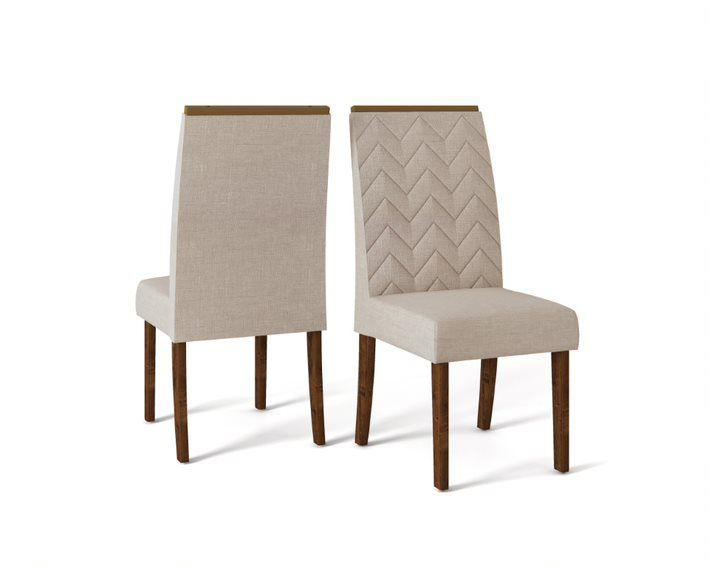 Conjunto Cadeira LAURA TRUFA LINHO URBANO - CONJUNTO COM 2 CADEIRAS