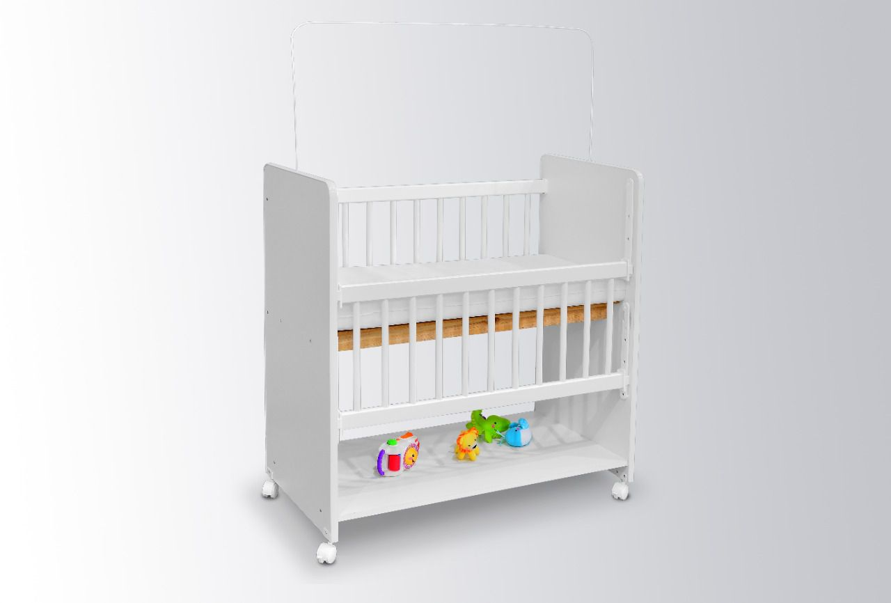 Mini Berço Moisés BedSide Grade Móvel Branco - Bela Casa Shop
