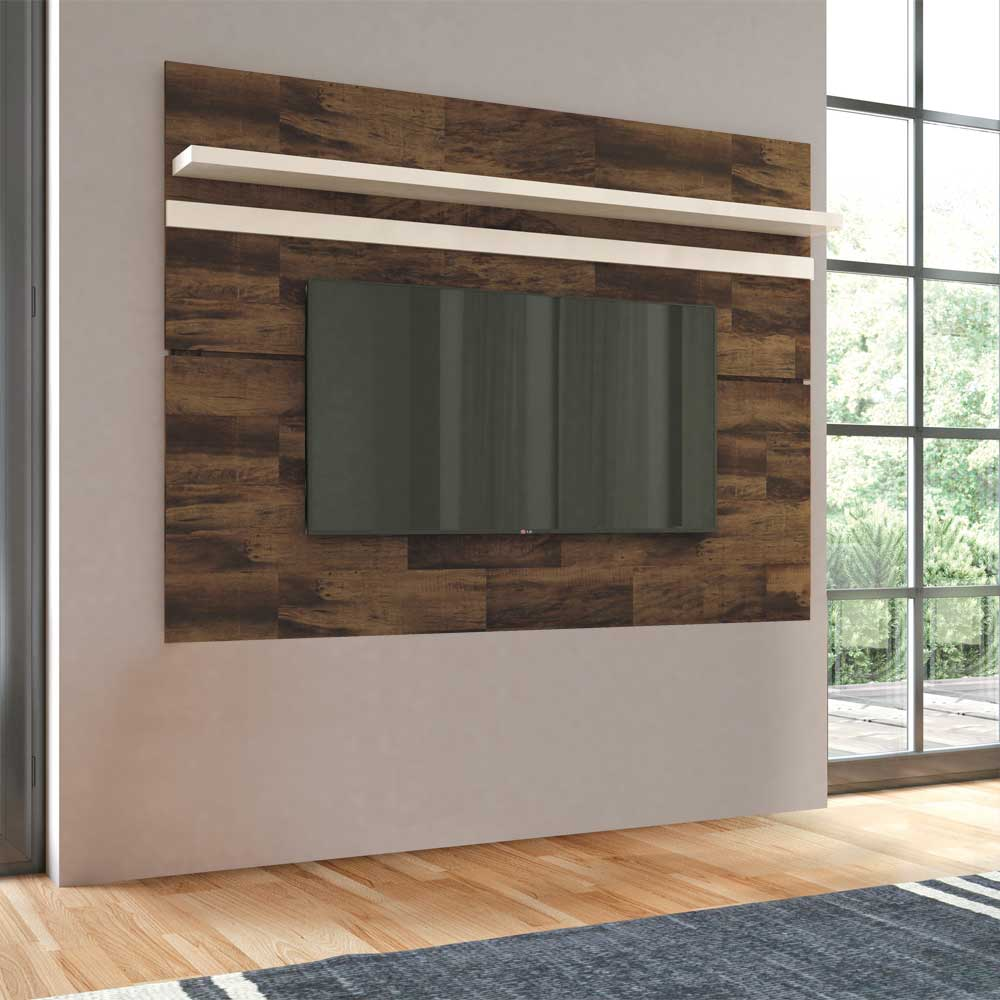 Painel para TV HB Móveis Venezza Deck Off White - HB Móveis