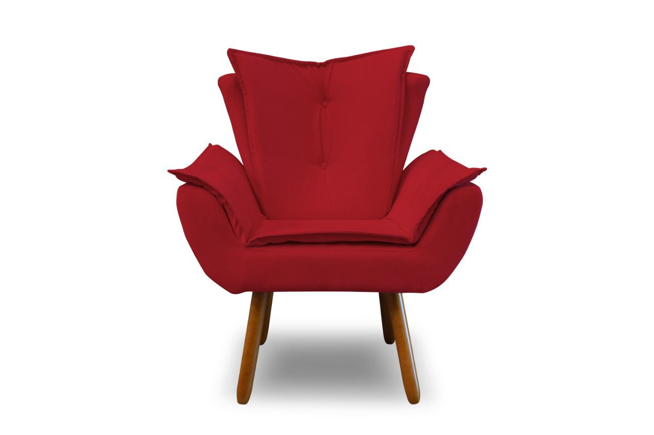 Poltrona Decorativa Betina Vermelho