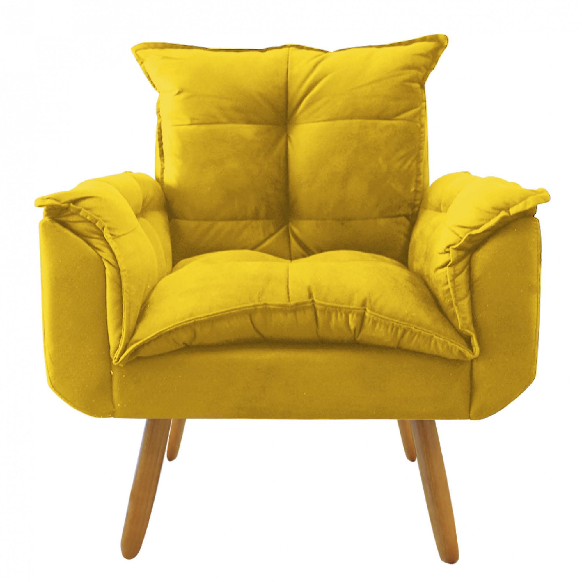 Poltrona Decorativa  Opala Plus Amarelo