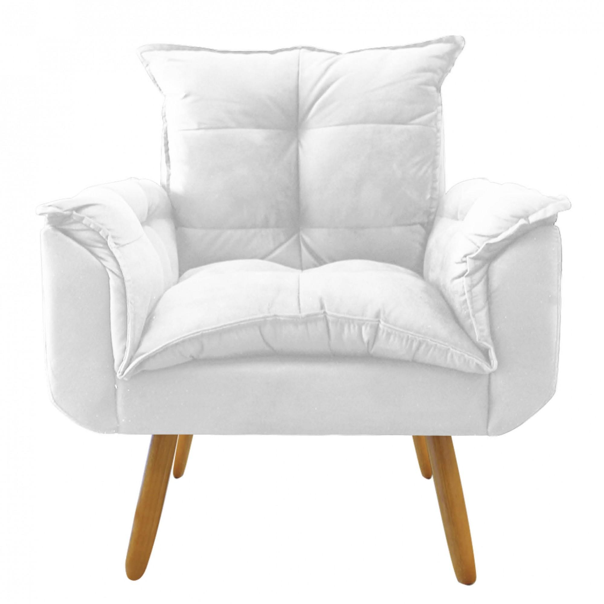 Poltrona Decorativa Opala Plus Branco