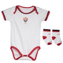 Kit Body Vitória Branco E Vermelho