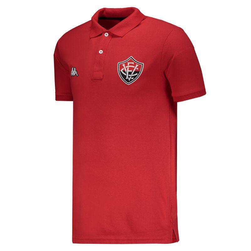 Polo Kappa Vitória Viagem Atleta 2019 Vermelha