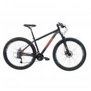Bicicleta Rava Pressure Mtb 24 Velocidades Tam 19 Preto/Vermelho Aro 29