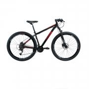 Bicicleta Rava Pressure Mtb 27 Velocidades Tam 19 Preto/Vermelho Aro 29