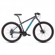 Bicicleta TSW Ride Mtb 21 Velocidades Tam 17 Cinza/Azul Aro 29