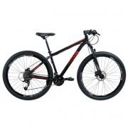 Bicicleta Rava Pressure Mtb 24 Velocidades Tam 17 Preto/Vermelho Aro 29