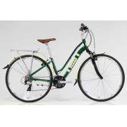 Bicicleta Soul 27.5 Amsterdam Retrô 24 Velocidades Verde/Bege
