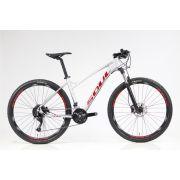 Bicicleta Soul 27.5 SL 227F Feminina 27 Velocidades Cinza/Vermelho/Grafite
