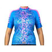 Camisa Blusa De Ciclismo Feminina Ciclopp Break Azul