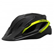 Capacete Ciclismo Bike High One Win Led Pisca Viseira Preto Amarelo Neon Tam G