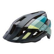 c25614a91 Capacete Ciclismo Fox Flux Drafter Preto Verde Tamanho S/M