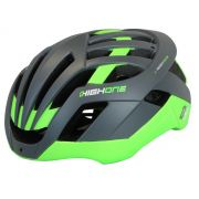 CAPACETE HIGH ONE SPACE MTB PRO CINZA/VERDE