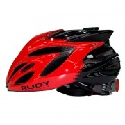 CAPACETE RUDY PROJECT RUSH RED/BLACK SHINY