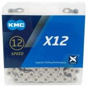 CORRENTE BICICLETA KMC X12 P/ 12V PRATA/PRETO 126 ELOS