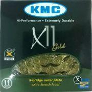 Corrente KMC X11 Dourada com 116 Pinos