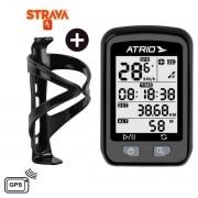 GPS ATRIO IRON CICLISMO BIKE STRAVA MTB SPEED BI091 + SUPORTE CARAMANHOLA WG SPORTS - BRINDE
