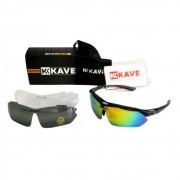 Óculos Ciclismo Bike Kave Flow 3 Lentes Mtb Speed