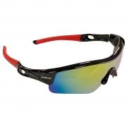 Oculos Ciclismo Elleven Mask Preto Vermelho Espelhado