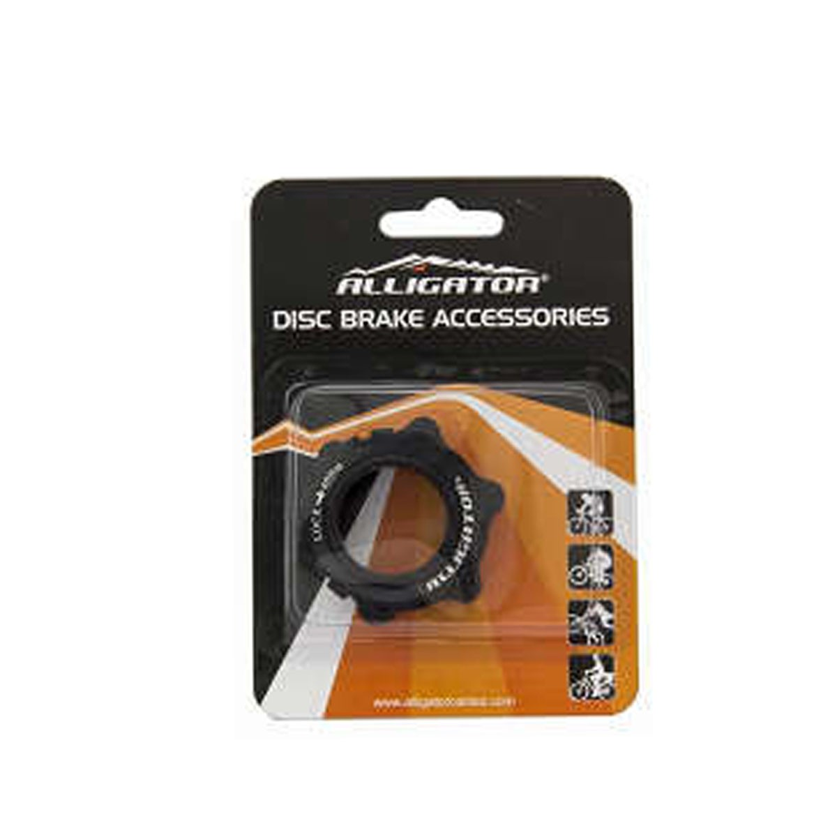 ADAPTADOR ALLIGATOR PARA CENTER LOCK 15 E 20 MM PRETO