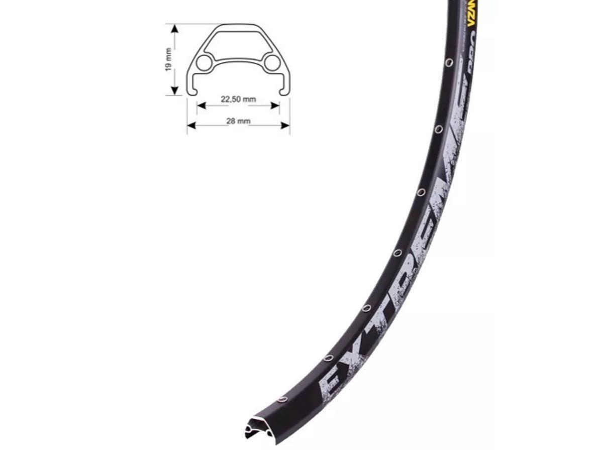 Aro Vzan Extreme Pro 29 32 Furos Preto Fosco