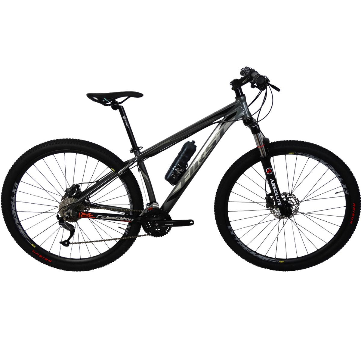 BICICLETA 29 FIRST LIFTY 27V SHIMANO ALTUS ACERA TRAVA GUIDÃO