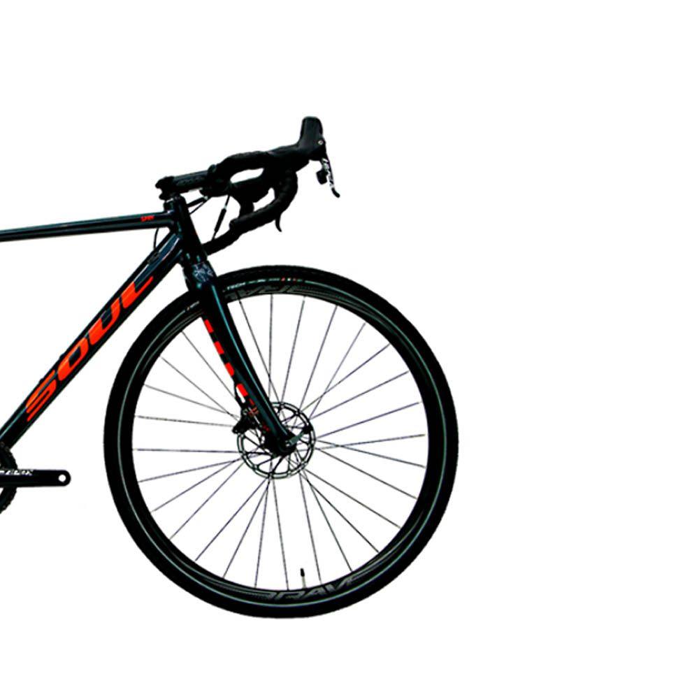 BICICLETA SOUL SPRY SRAM APEX 1X11 GRAFITE / LARANJA 2020
