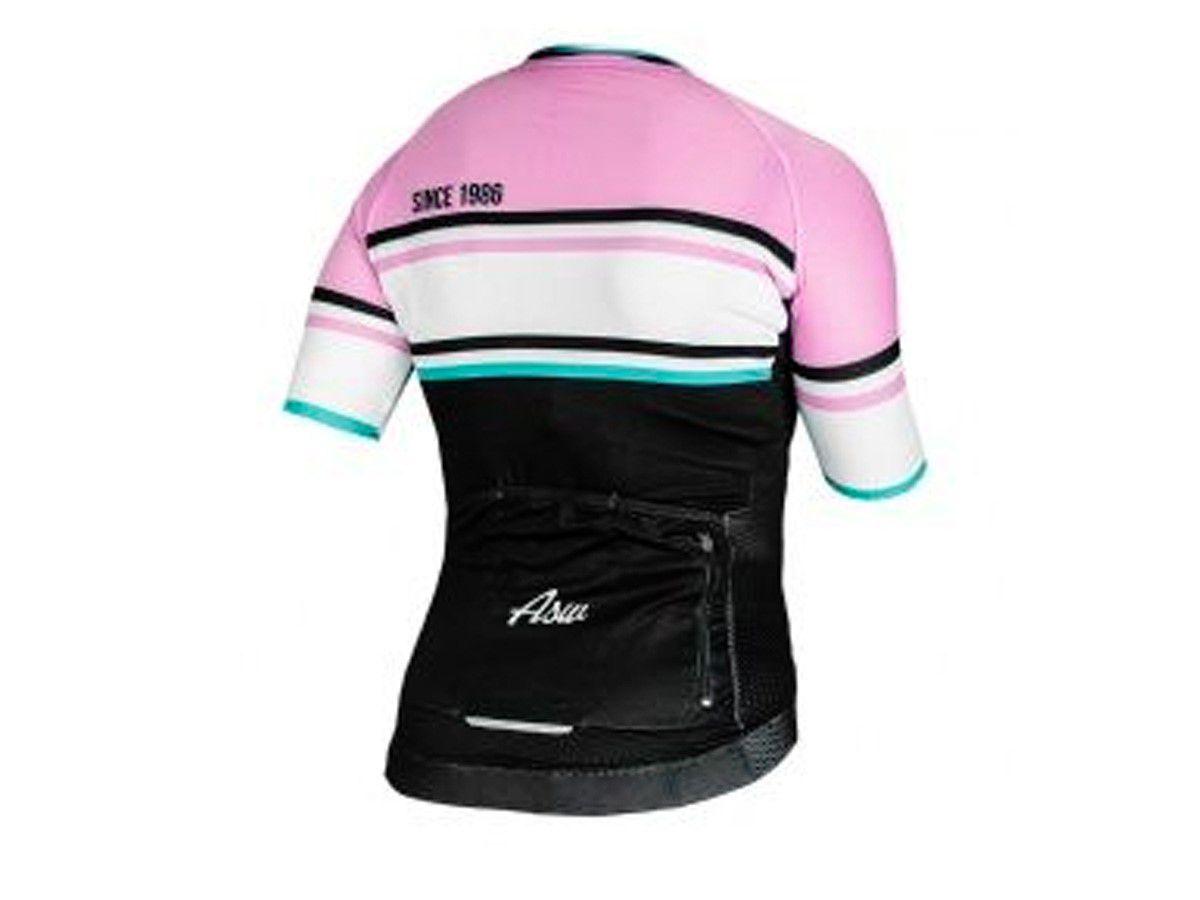 Camisa Blusa Ciclismo Feminina Asw Active Club Rosa