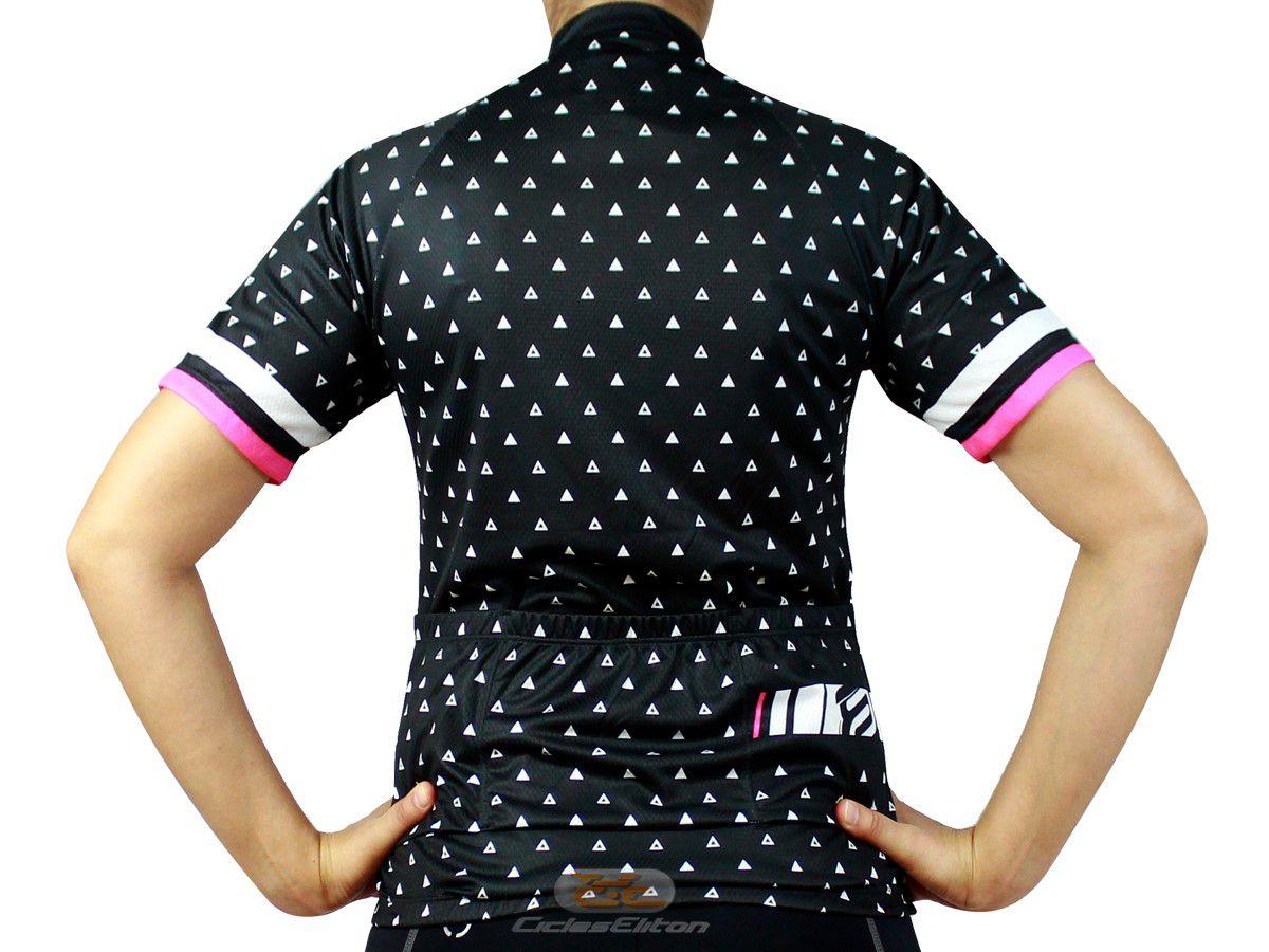Camisa Blusa Ciclismo Feminina Asw Fun Delta Preto