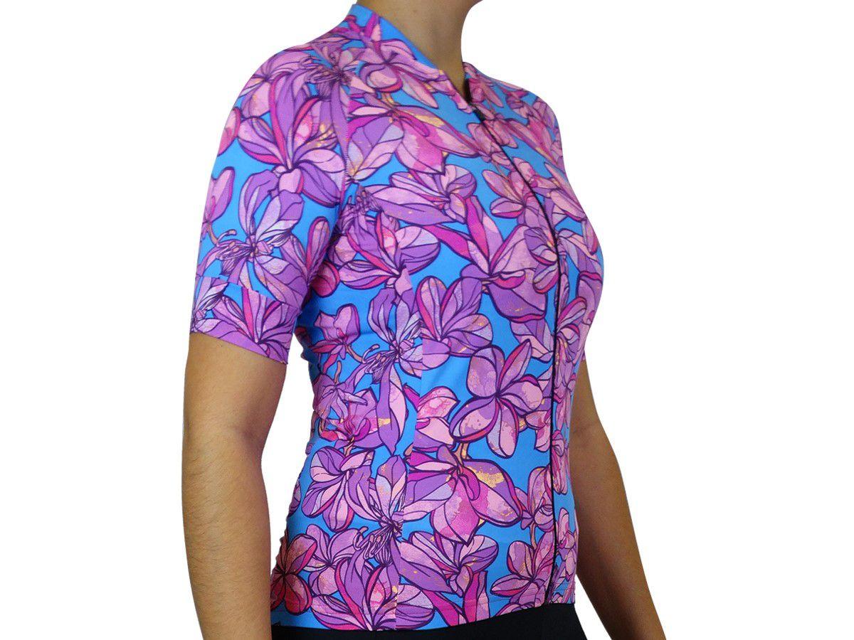 Camisa Ciclismo Feminina Márcio May Funny Flowers