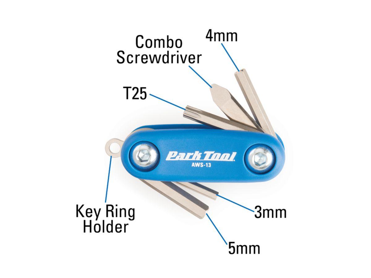 Canivete Mini Park Tool Aws-13 06 Funções