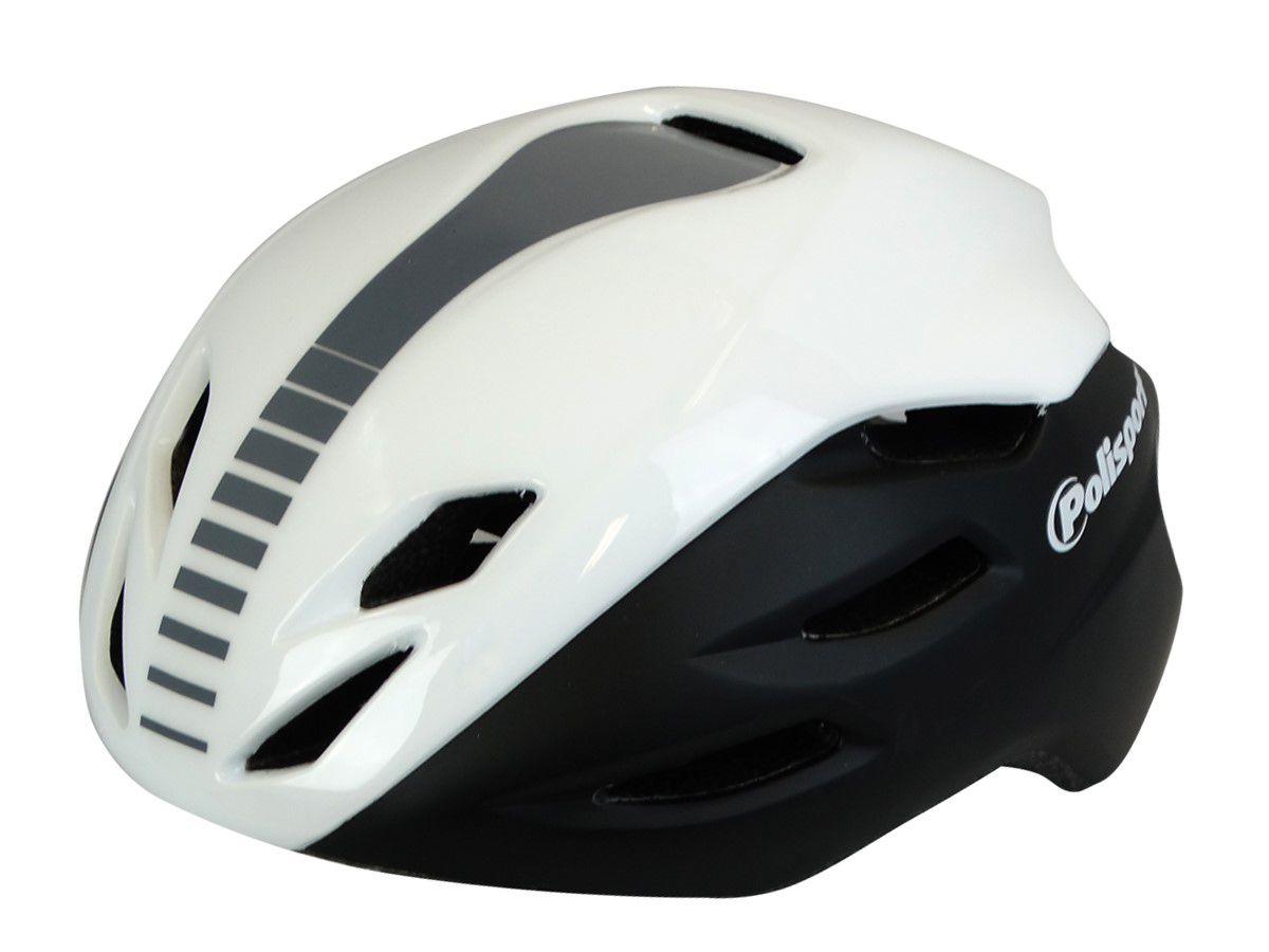 Capacete Ciclismo Polisport Aero Road Branco/preto M 55/58