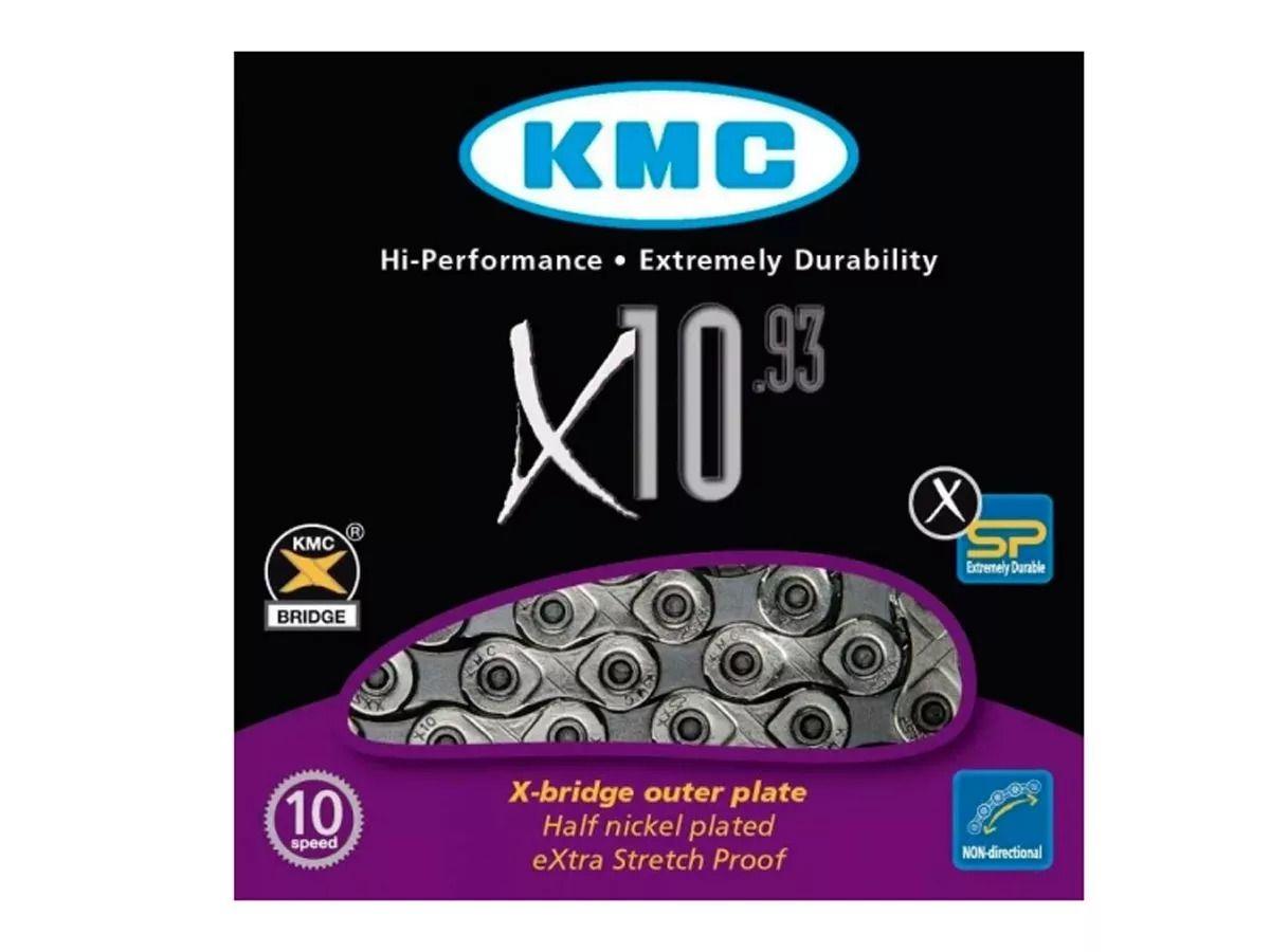 Corrente Bicicleta Kmc X-10 Silver/gray Shimano Sram