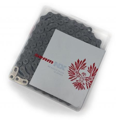 CORRENTE SRAM PC NX EAGLE 12V 126L CINZA