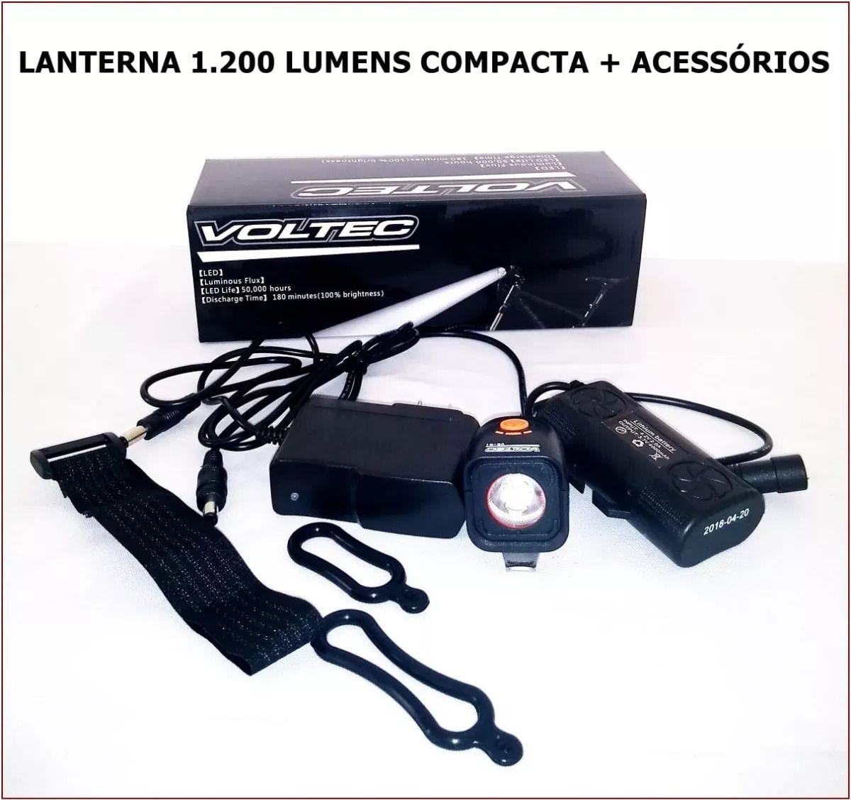 Farol Compacto Voltec Vo-q3 1200 Lumens Bateria Selada