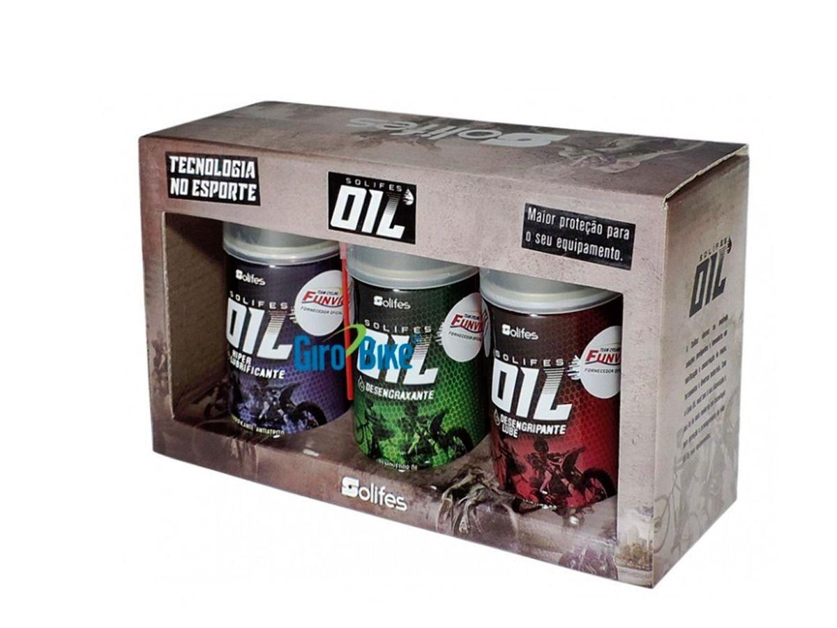 Kit 3 Em 1 Lubrificação Limpeza Oil Solifes 200ml