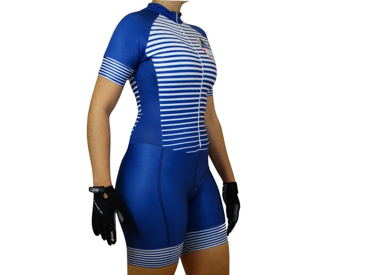 Macaquinho Ciclismo Feminino Ciclopp Aloha Azul M