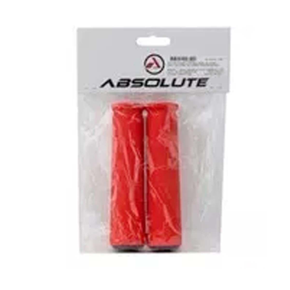 Manopla Absolute Sg2 Em Silicone Vermelho C/ Plugs