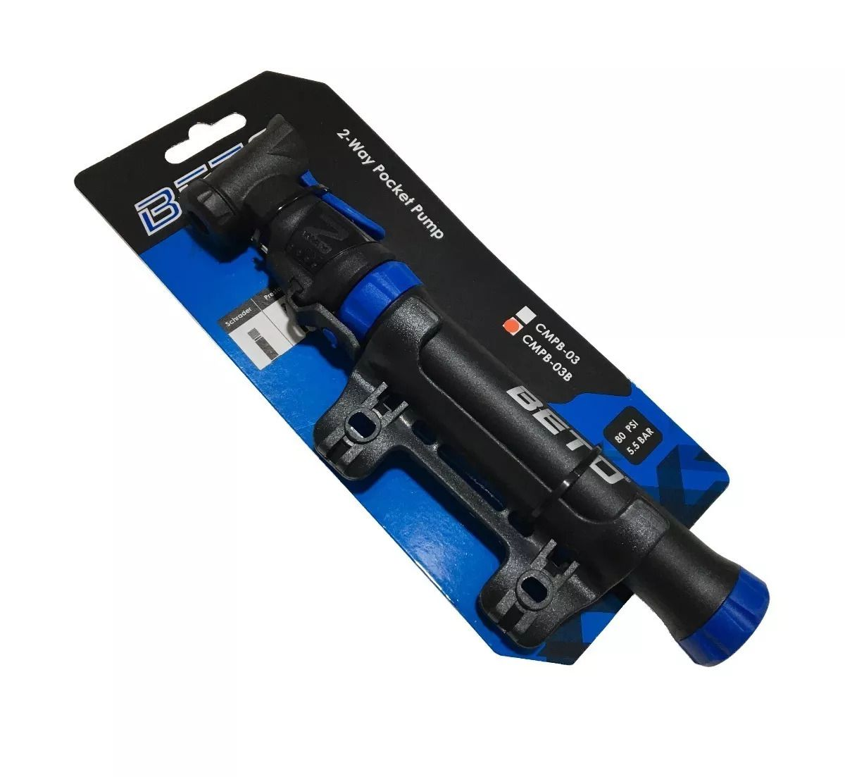 Mini Bomba De Mão Beto Cmpb-03b 80 Psi Reversível C/ Suporte