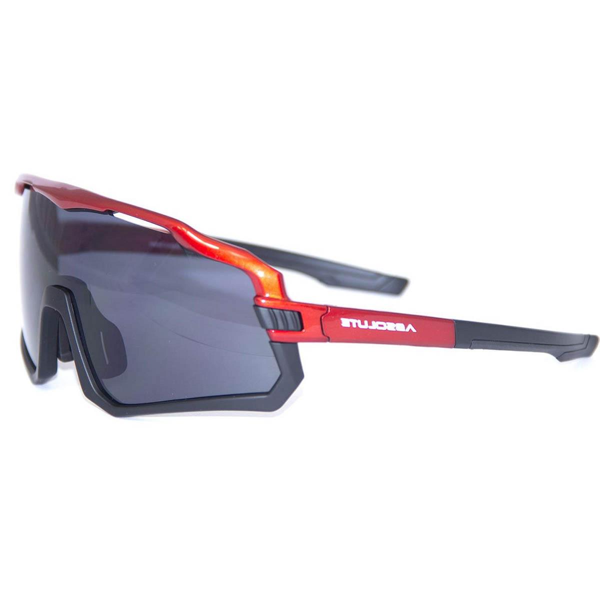 Óculos Ciclismo Absolute Wild Vermelho/Preto Lente Fumê - CICLES ELITON