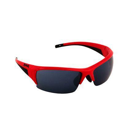 Óculos Bike Spiuk Binomio Lentes Fume C/ Armação Vermelha