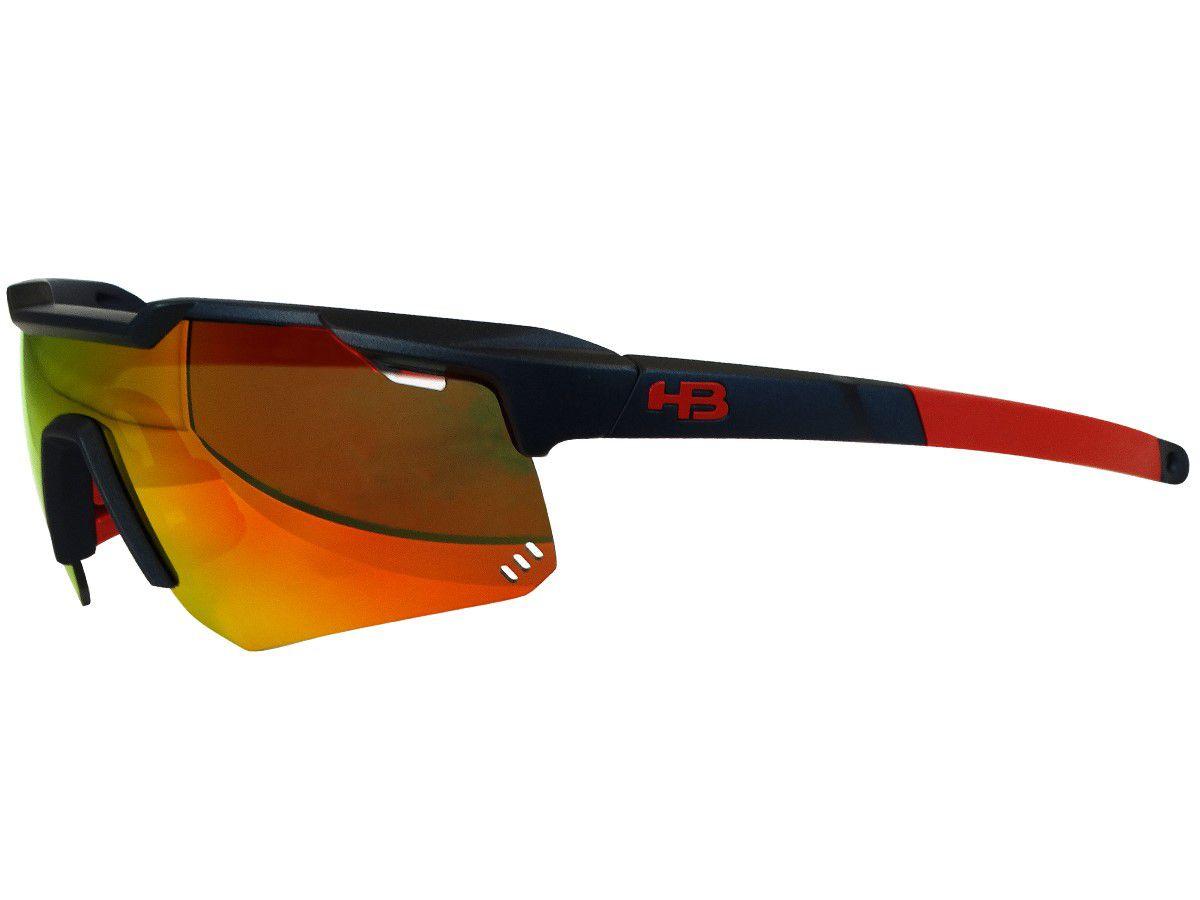 550b99c9be Óculos Ciclismo Hb Shield Mountain Vermelho Lente Espelhada - CICLES ELITON