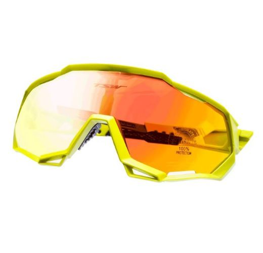 Óculos Ciclismo Tsw Cross 3 Lentes Amarelo Preto C/regulagem